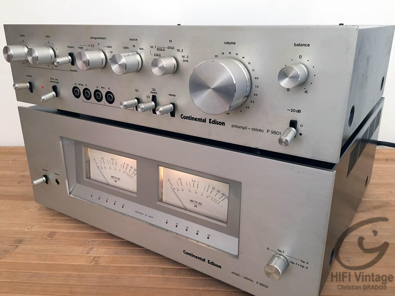 Continental Edition A-9801 et 9802 Hifi vintage réparations