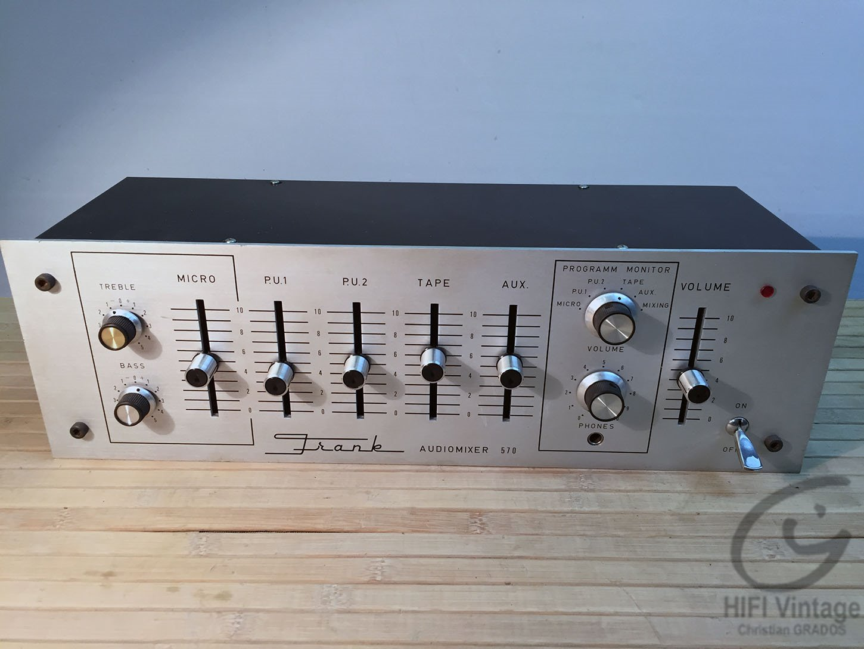 FRANCK Audiomixer 570 Hifi vintage réparations