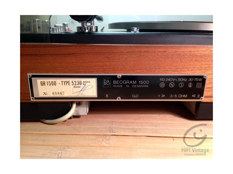 B&O BEOGRAM 1500