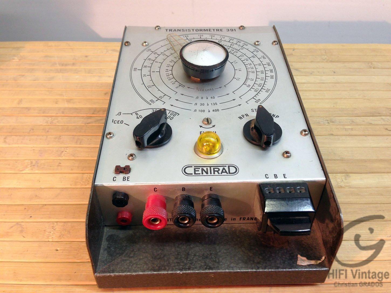 CENTRAD 391 Transistormètre Hifi vintage réparations