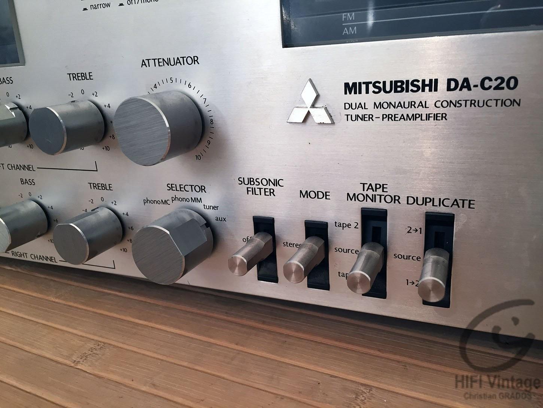 Mitsubishi DA-C20 Pré-Amplificateur tuner Hifi Vintage