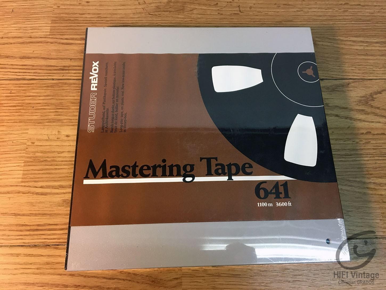 REVOX Mastering Tape 641 Plastic SEALED