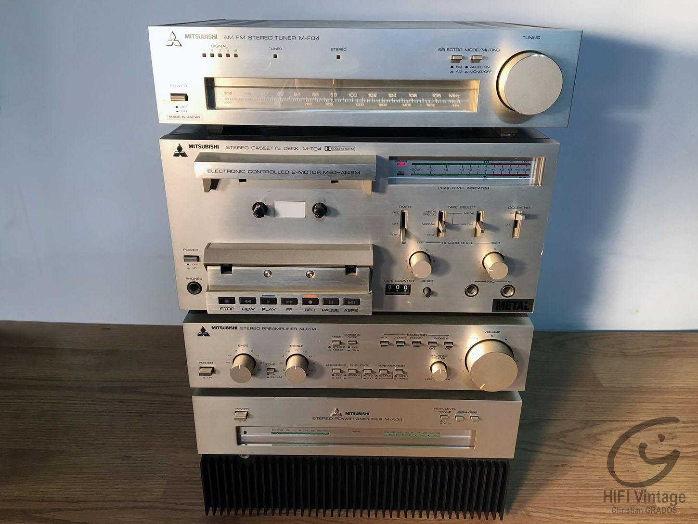 MITSUBISHI Mini-system M-P04/M-A04/M-F04/M-T04 Hifi vintage réparations