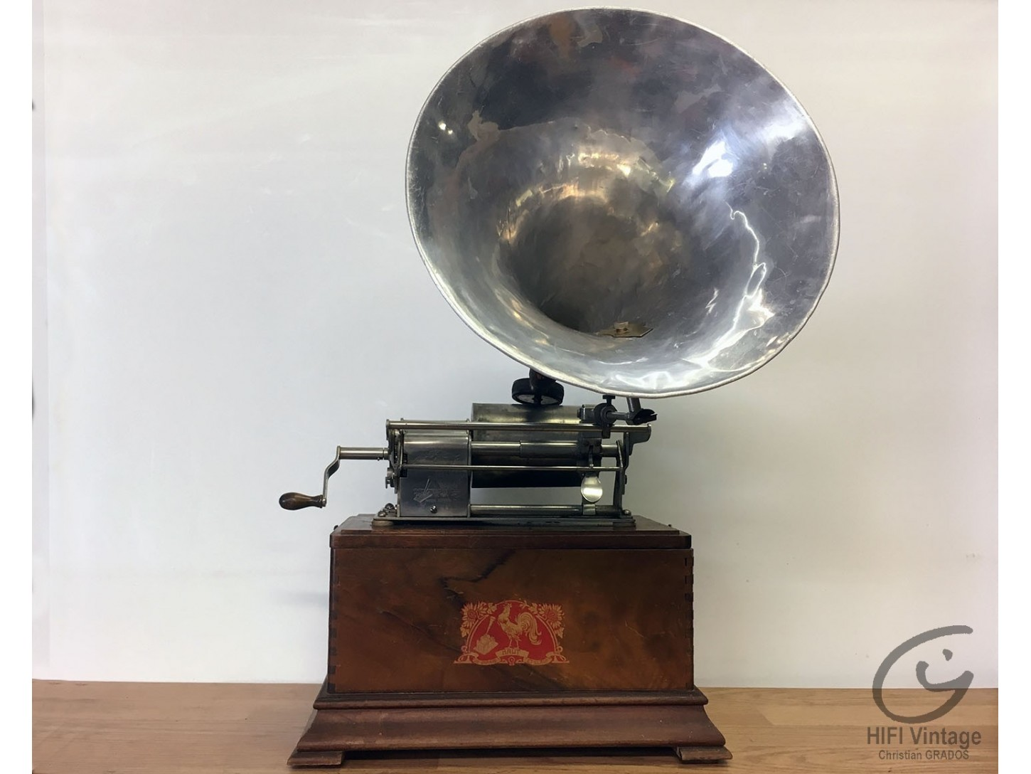 PATHE Phonographe cylindre Chante Clair