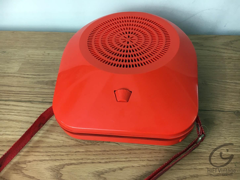 Mange disque 45t rouge avec sangle Hifi vintage réparations