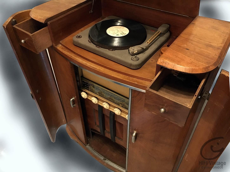 Meuble radio tourne disque ann es 50 - Meuble tv annee 50 ...