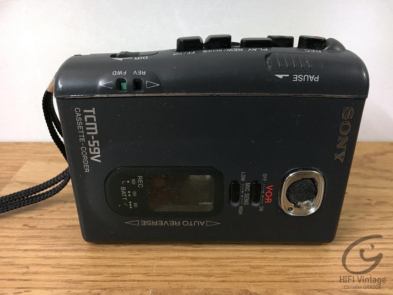 SONY TCM-59V Hifi vintage réparations