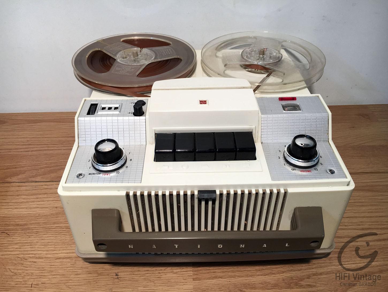 NATIONAL Tape recorder 1960 Hifi vintage réparations
