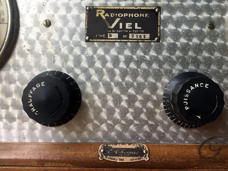 RADIOPHONE VIEL Poste Batterie 6 lampes 1930