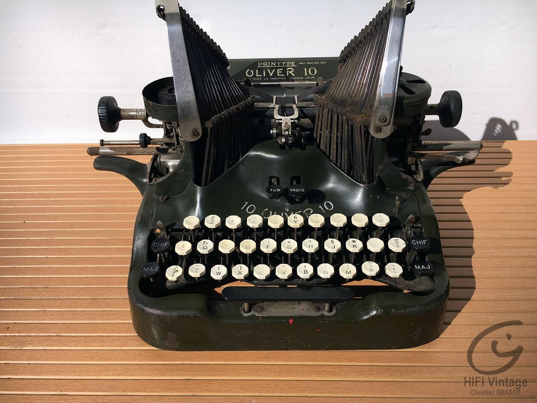 OLIVER N°10 Typewriter Hifi vintage réparations