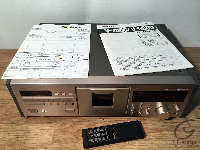 Teac V-7000 Hifi vintage réparations