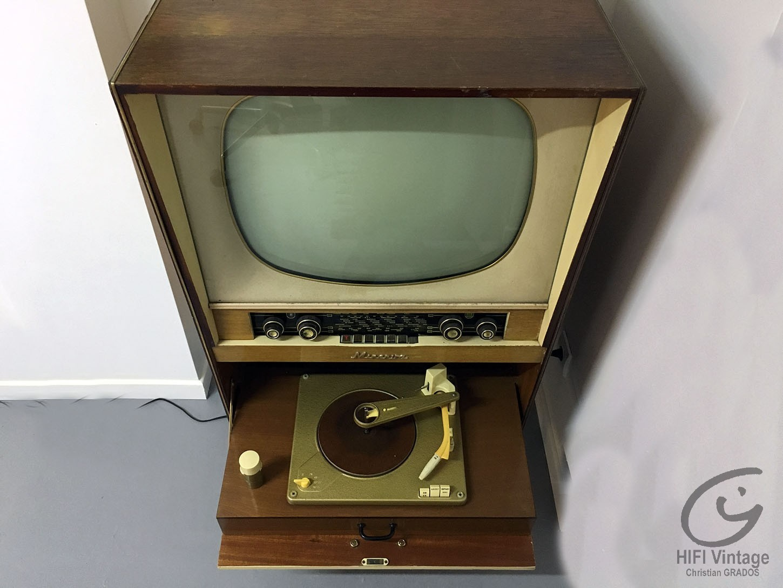 Minerva combiné Radio PU TV 1952