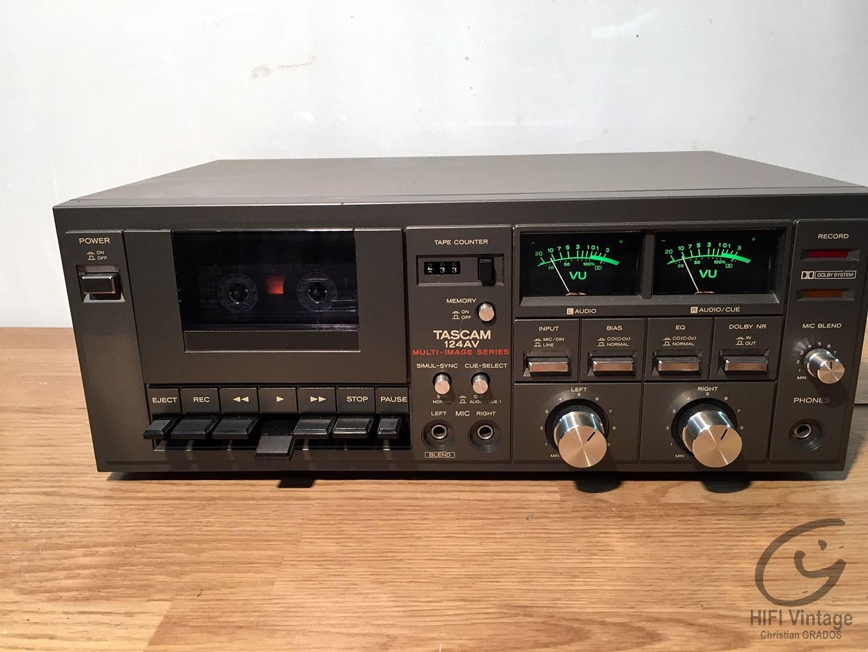 TASCAM 124-AV Hifi vintage réparations