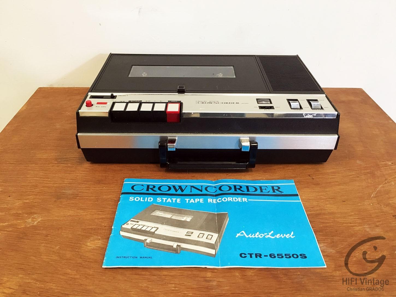 CROWNCORDER CTR-6550-S Hifi vintage réparations
