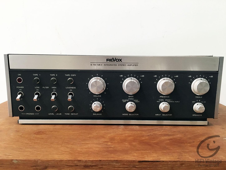 REVOX B-750 MKII Hifi vintage réparations