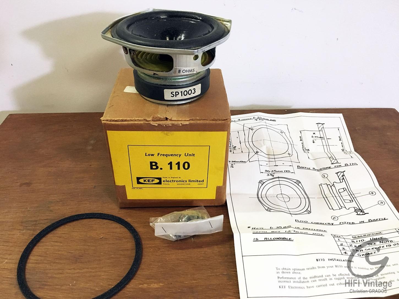 KEF B-110 Hifi vintage réparations