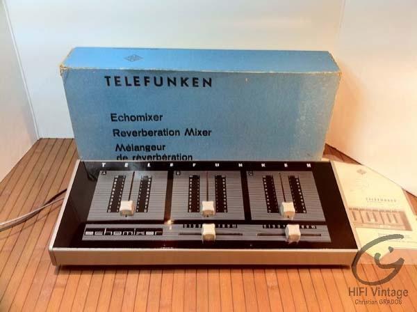 TELEFUNKEN Echomixer Hifi vintage réparations