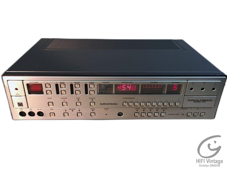 GRUNDIG PreCeiver X-6500-TP Hifi vintage réparations