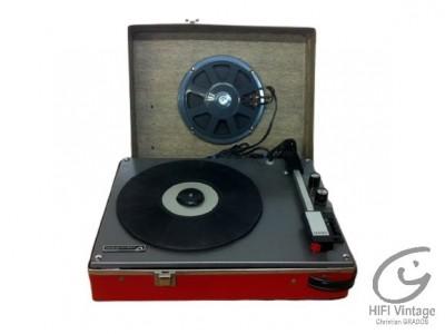 La voie de son maitre electrophone rouge Hifi vintage réparateur