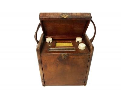 Radio recepteur portable compact coffret cuir