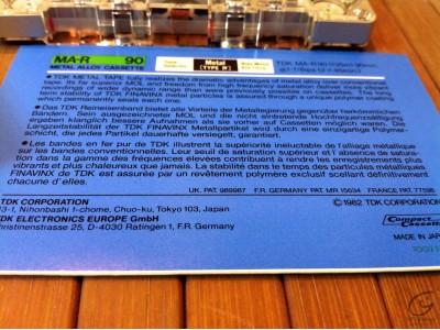 TDK MA-R cassette