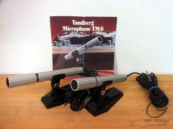 TANDBERG Micro electrodynamique TM6 Hifi vintage réparations