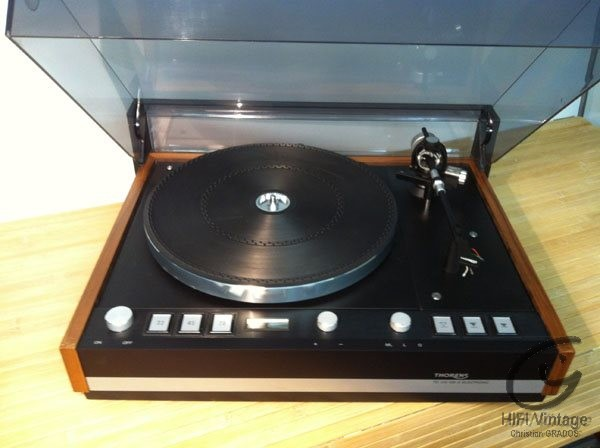 THORENS TD-126 MKIII Electronic Noir Hifi vintage réparations