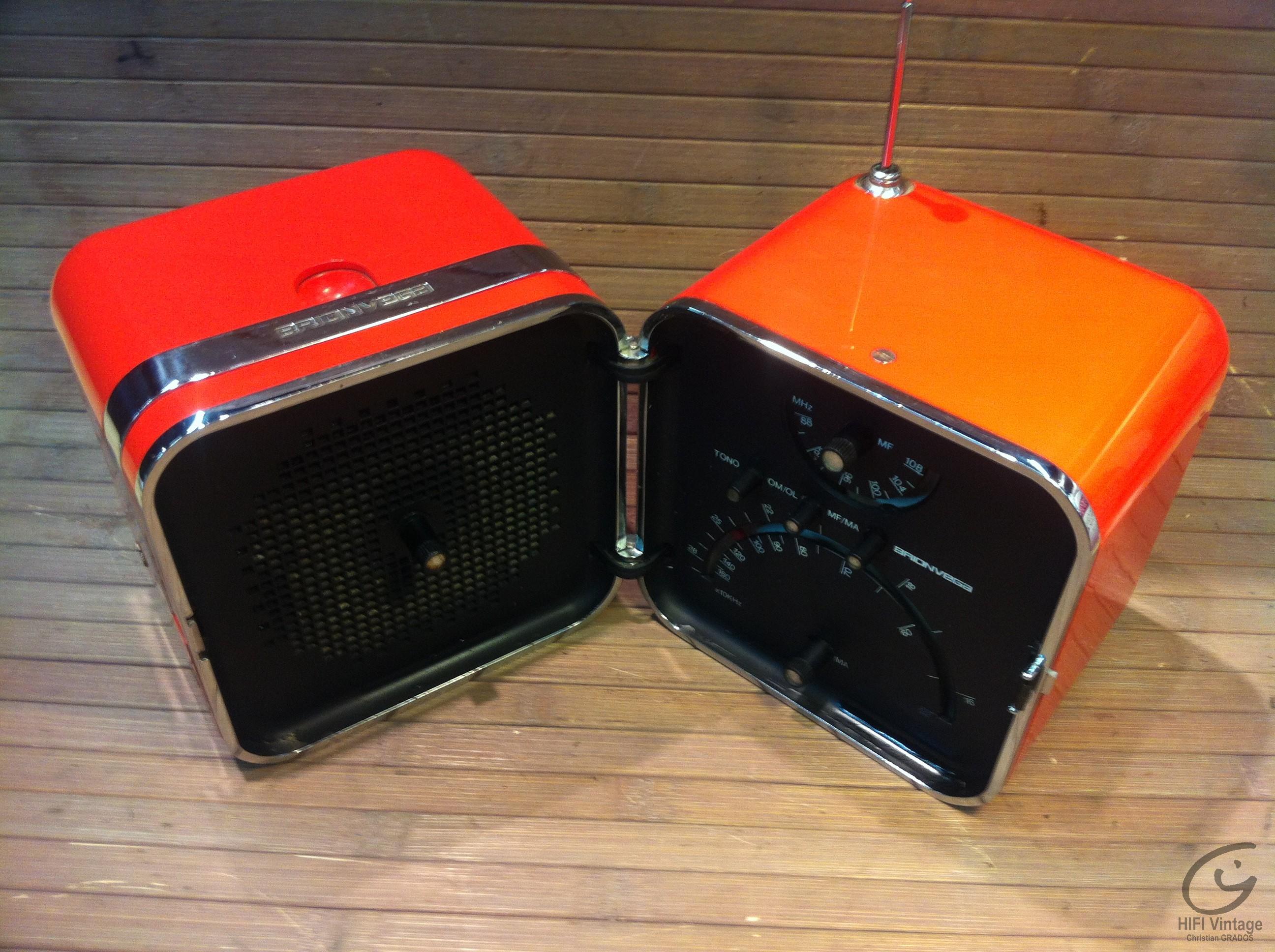 BRIONVEGA Clap-Cube Hifi vintage réparations